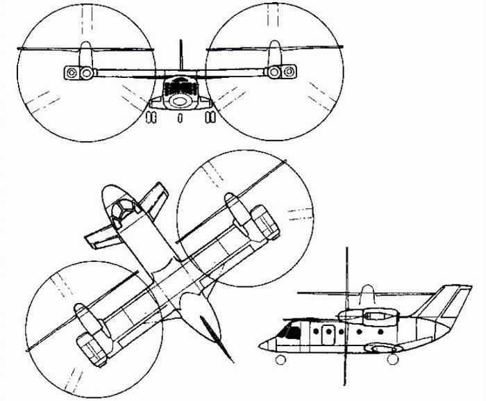 Esquema del Mi-30 soviético.