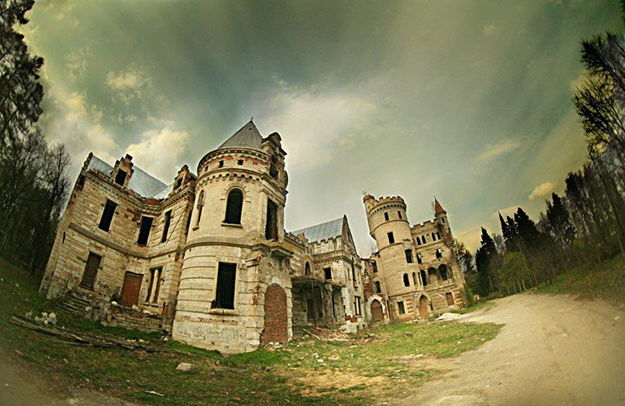 Forgotten gothic castle in Vladimir region.