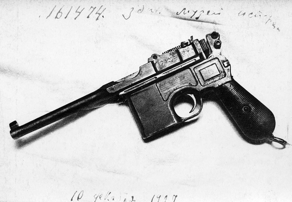 Die Mauser-Pistole K-97/12 Nr. 161474: Laut seinem Besitzer, dem Revolutionär Pjotr Jermakow, wurde der Zar mit dieser Waffen erschossen.