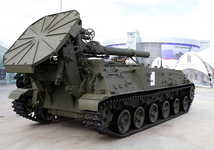 Sistema de artillería 2S4 Tulipán.