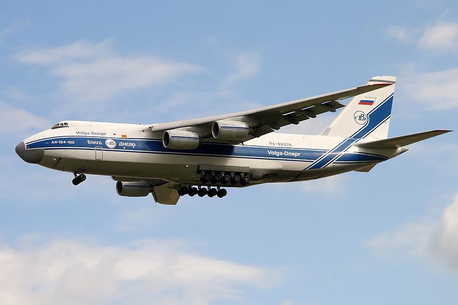 Avión de transporte aéreo estratégico An-124 Ruslán.
