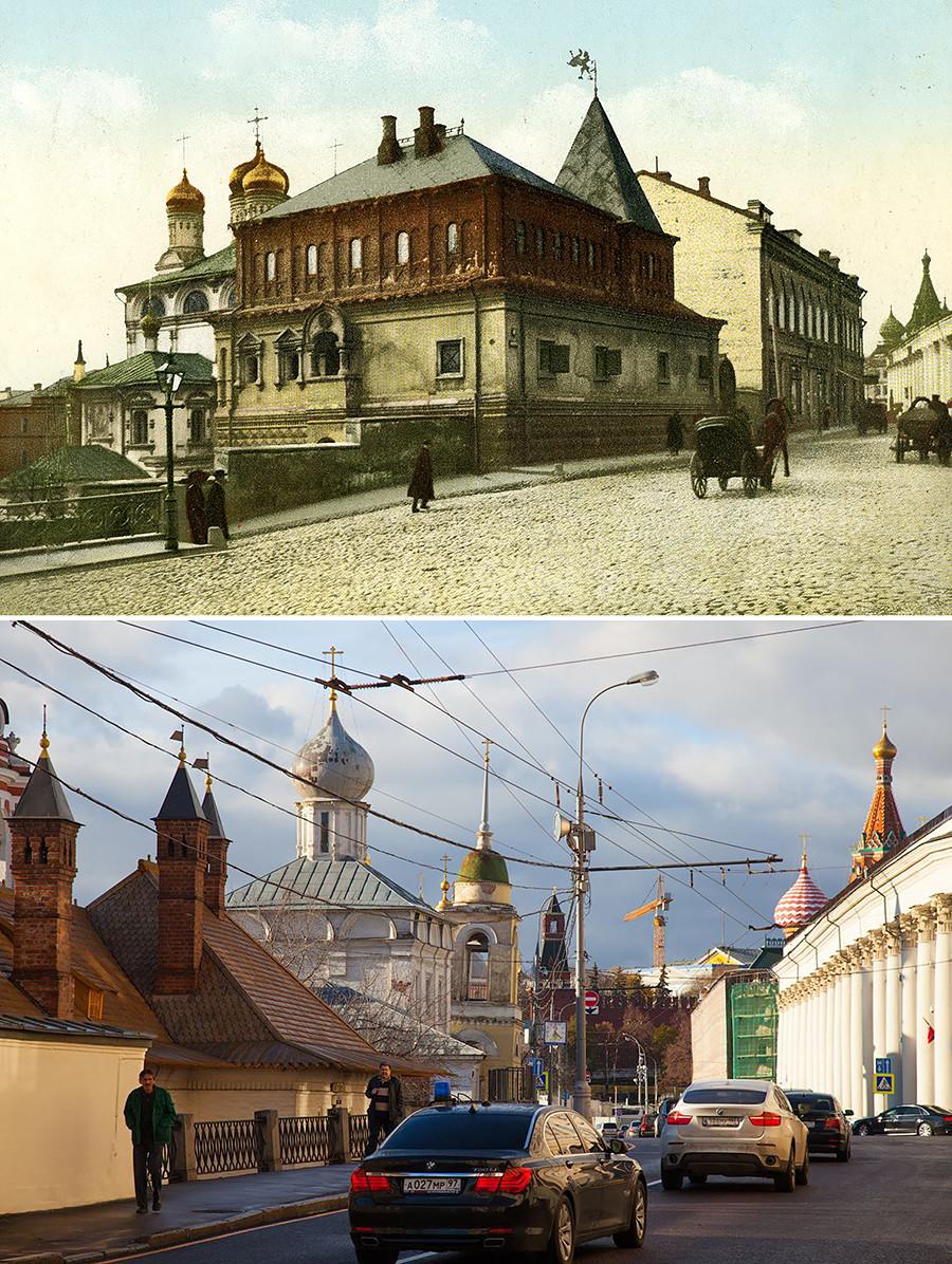 Moskau im 19. Jahrhundert und heute: Die Vor- und