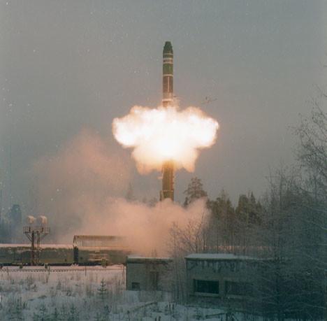 Sistema de misiles ferrovario.