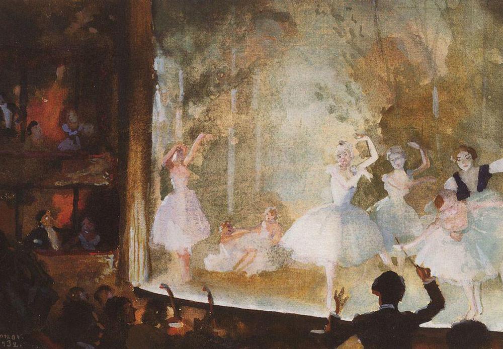 Ballet ruso. Campos Elíseos. Sílfides.