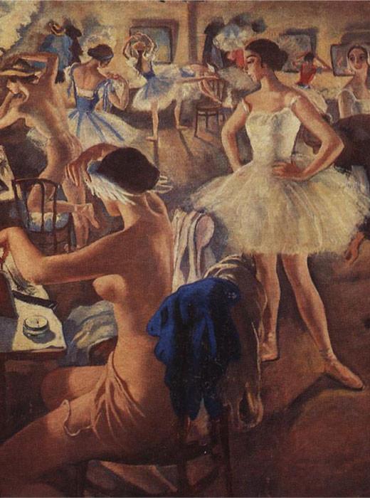 En el vestuario del ballet (Bailarinas del Bolshoi), 1922.