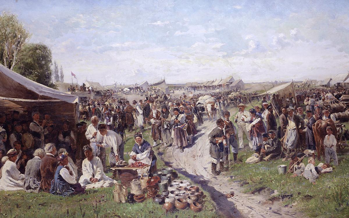 'Feria' (de la serie 'Pequeña Rusia'), 1885.