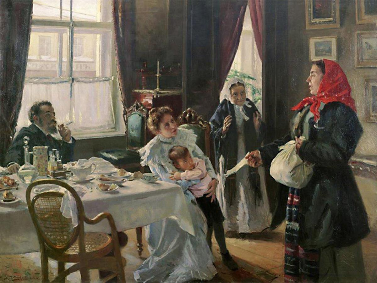 'Dos madres: biológica y madrastra', 1906.