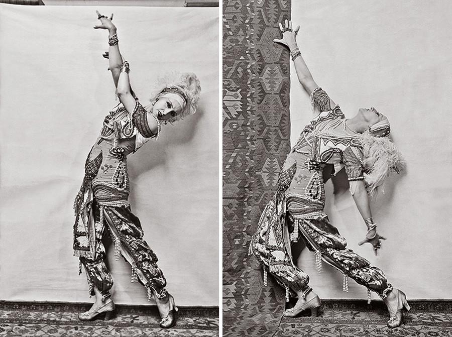 Lyubov Chernysheva nel ruolo di Zobeid in Shahrazad, 1920