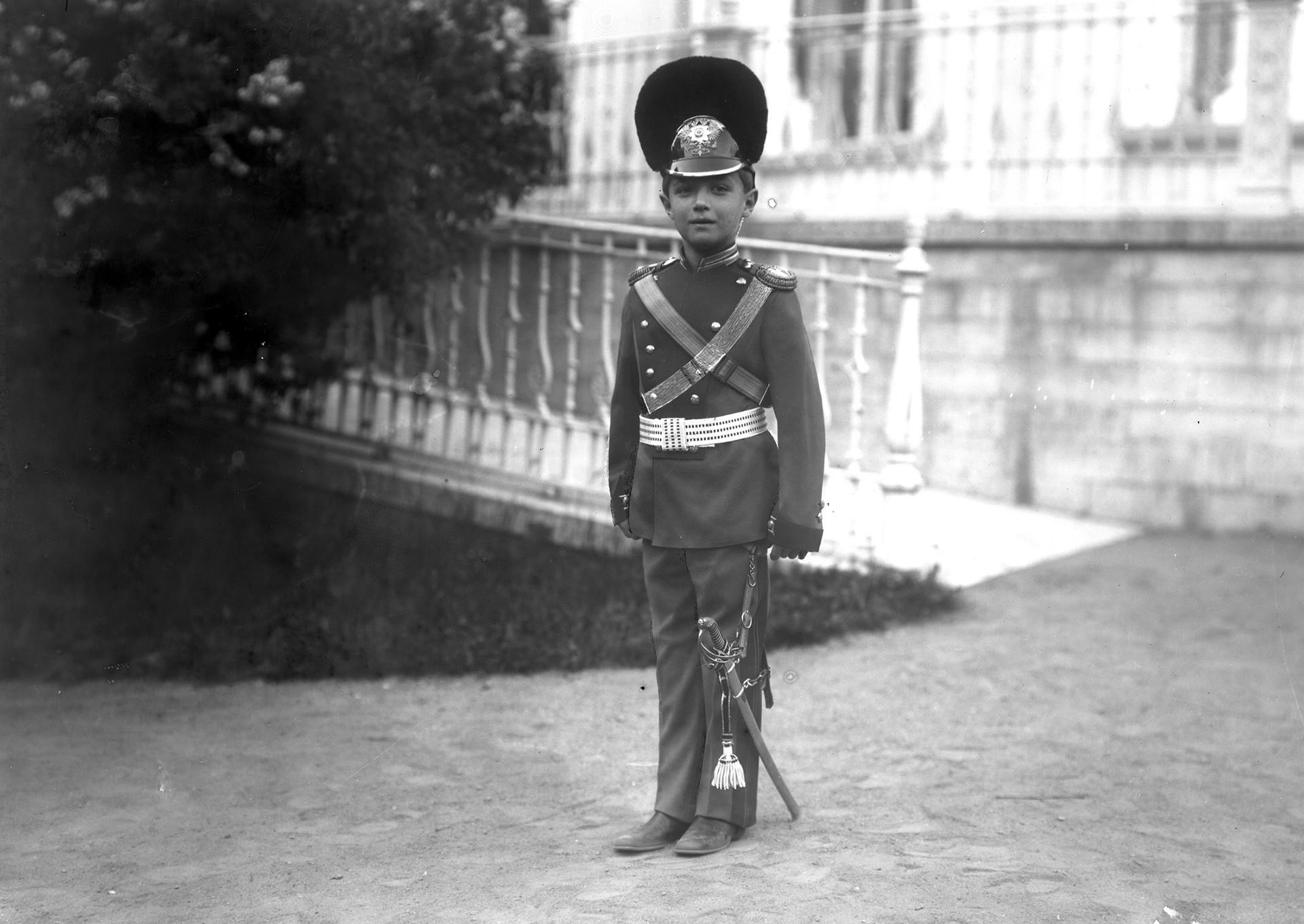 El príncipe heredero Alexéi Nikoláievich, 1911.