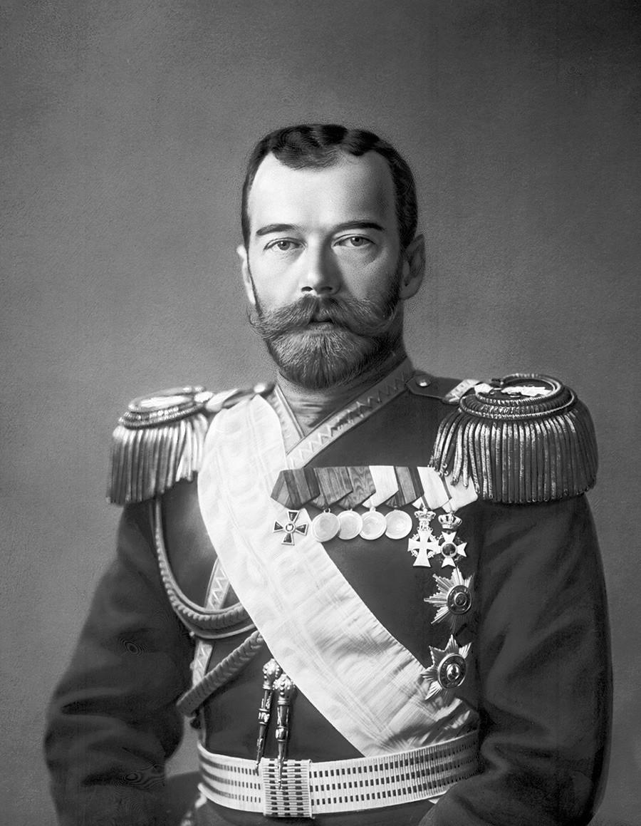 El zar Nicolás II, década de 1900.