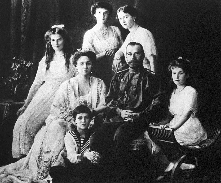 Nicholas II and his family, 1918.