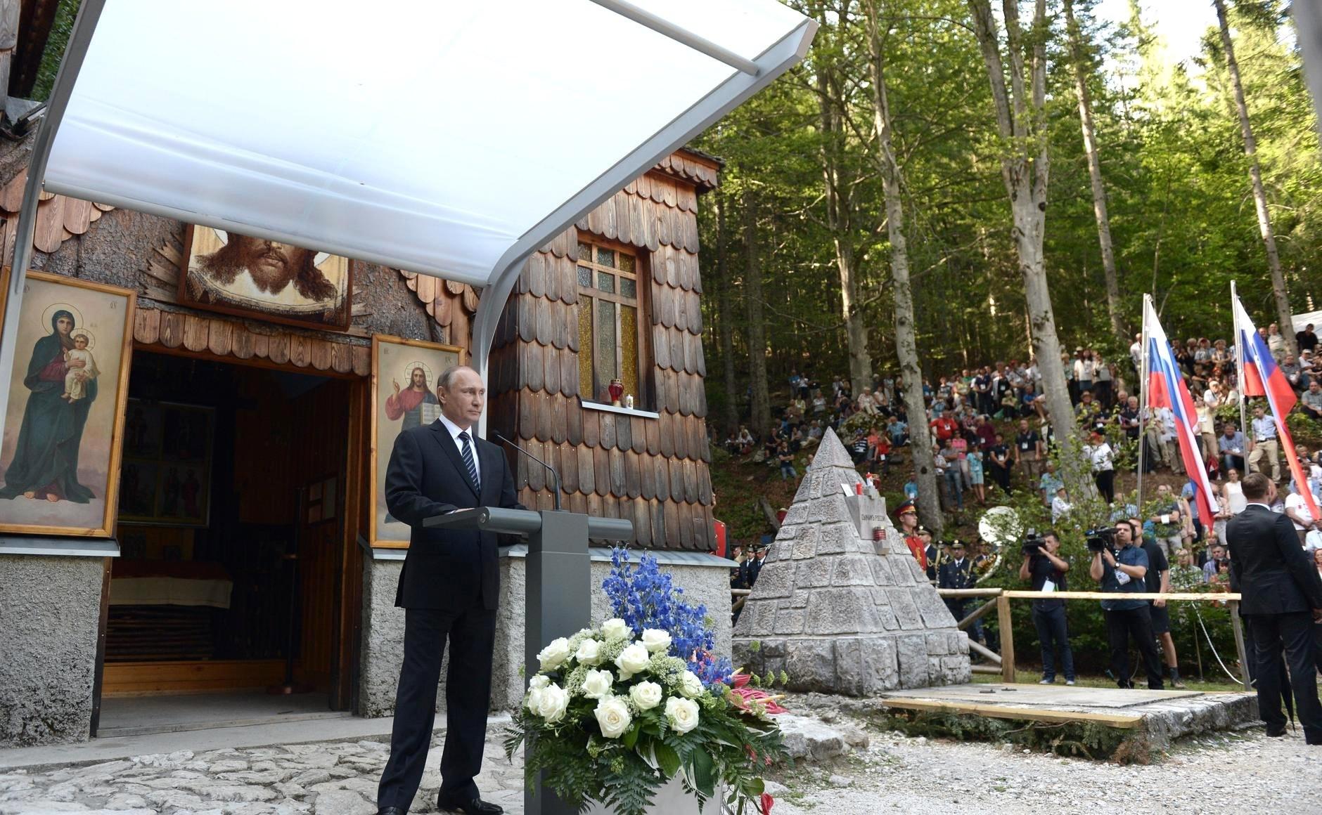 Vladimir Putin je obiskal Rusko kapelico 30. 7. 2016 ob njeni 100. obletnici nastanka.