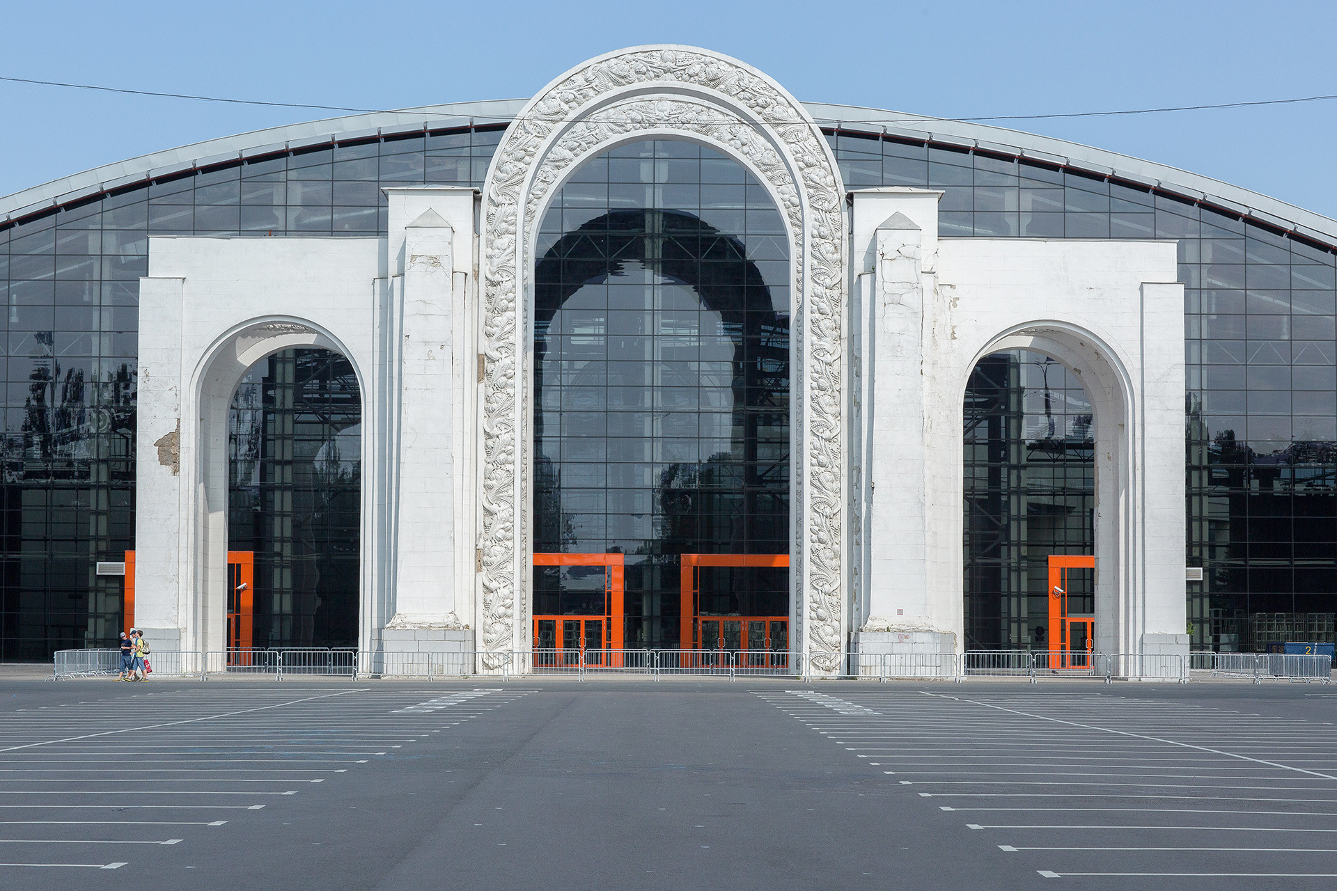 Arco antes de la reconstrucción.