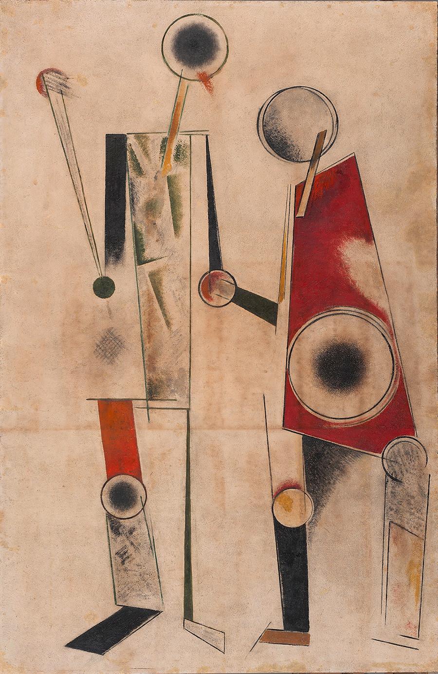 "Aleksandr Rodtchenko. ""Duas silhuetas"", 1920."