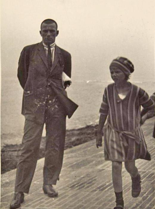 Majakovski na počitnicah, otok Norderney, Nemčija, 1923