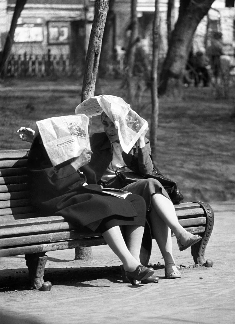 En el bulevar, 1958.