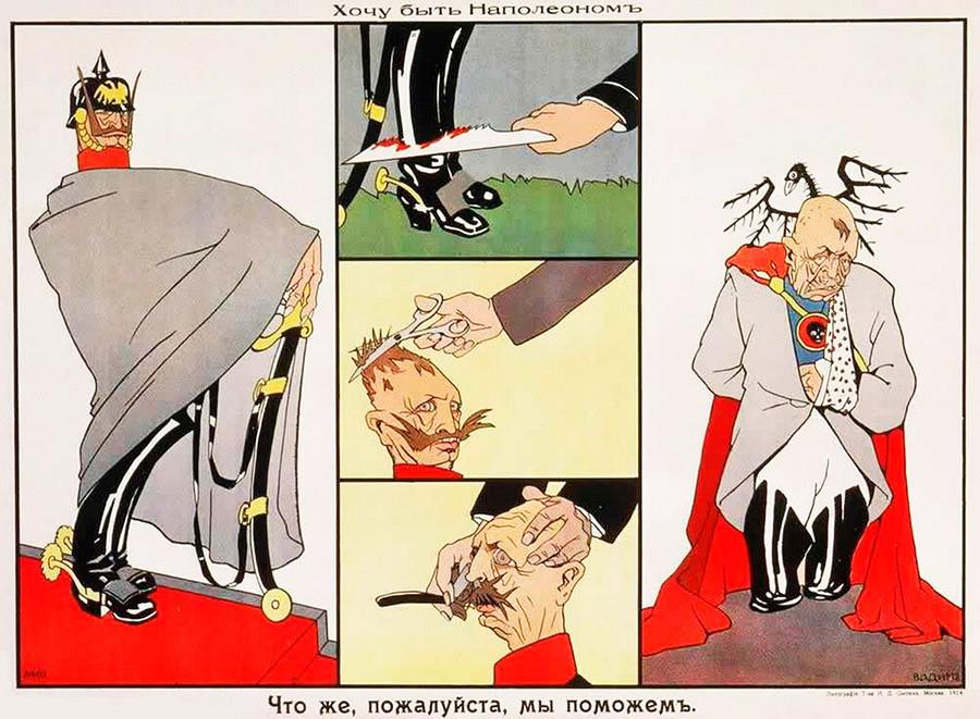 »Rad bi bil Napoleon!« je zavpil nemški cesar Viljem II. »Nič lažjega!« mu ugodijo Rusi.