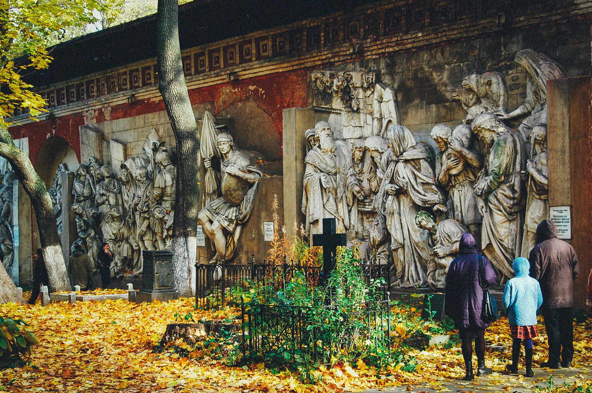 Der Donskoje-Friedhof in Moskau