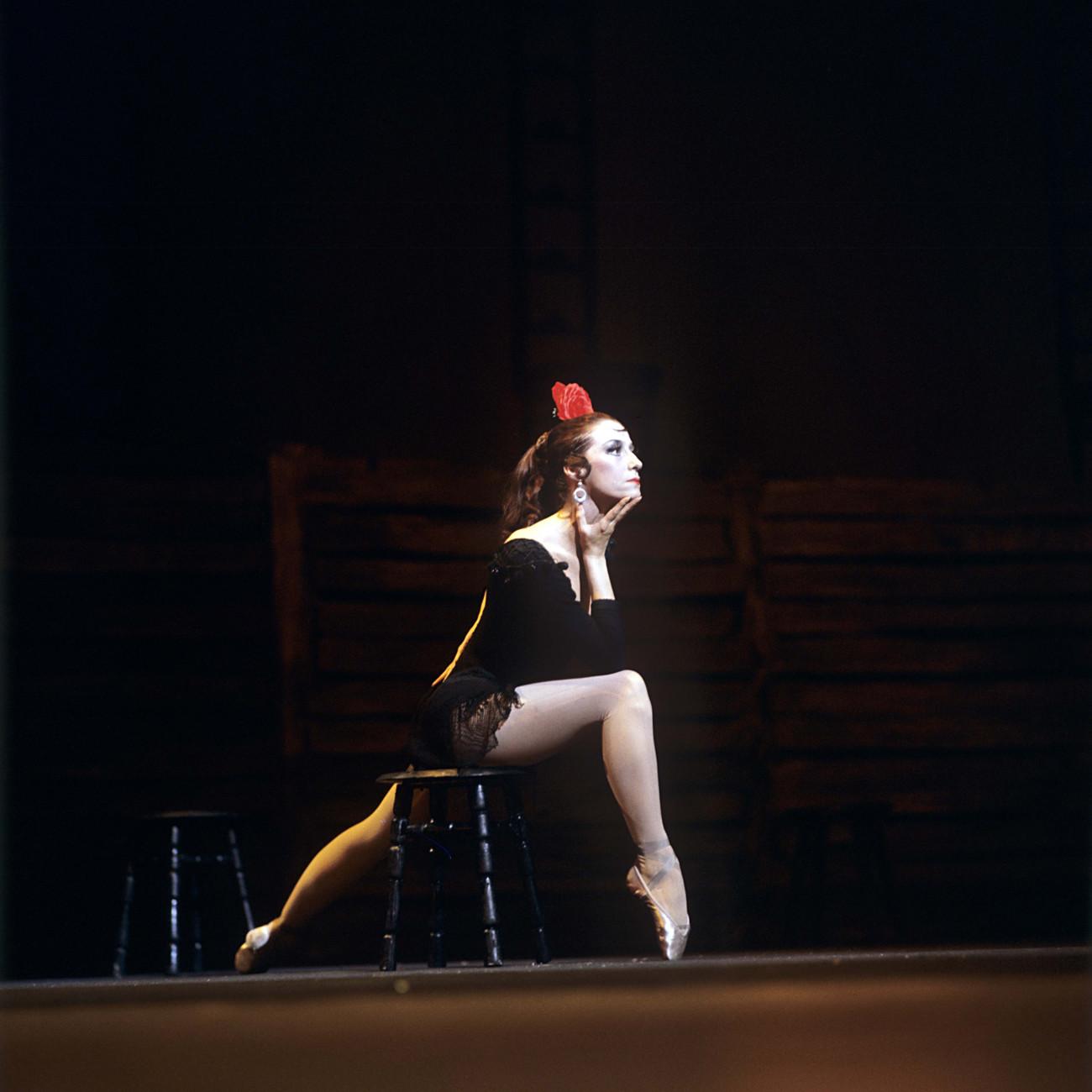 Maja Pliseckaja kot Carmen ob nastopu v Bolšoj teatru