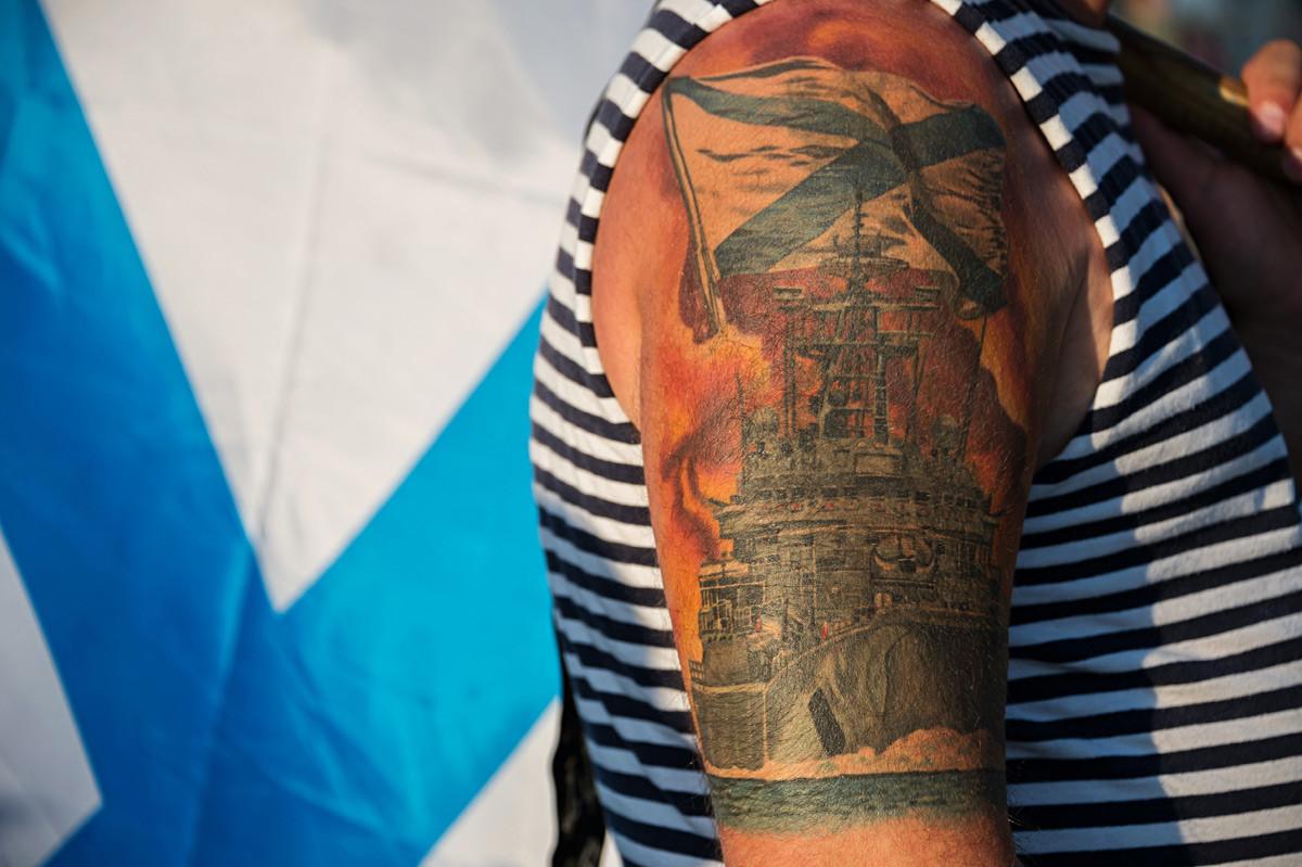 Detalj sa proslave Dana Ratne mornarice u Sevastopolju.