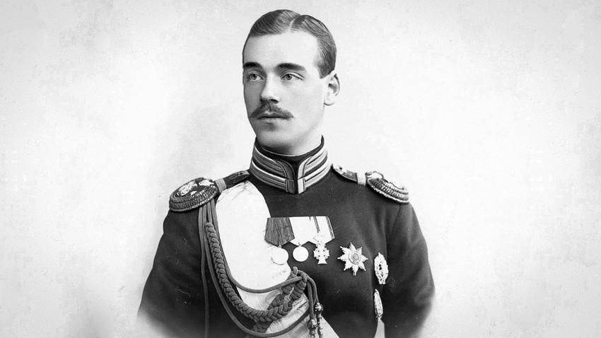 Großfürst Michail Alexandrowitsch Romanow, der jüngere Bruder von Nikolaus II.