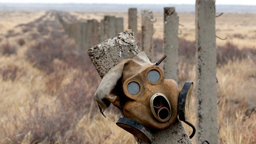 A cidade de Kurtchátov, no Cazaquistão, foi o centro dos experimentos de Semipalátinsk. A URSS detonou ali 467 bombas nucleares. Milhares de pessoas adoeceram devido à contaminação radioativa do local.