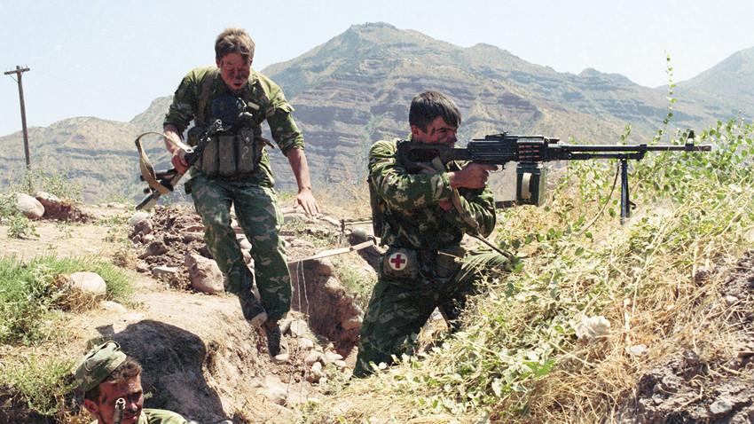 Acciones militares en la frontera tayiko-afgana. Tayikistán, el 1 de agosto de 1993.