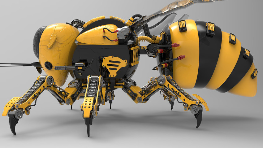 Scientists at the Russian Tomsk Polytechnic University, the Japan's National Institute of Advanced Industrial Science and Technology, Harvard University, and the Charles Stark Draper Laboratory are working on developing 'robo-bees'
