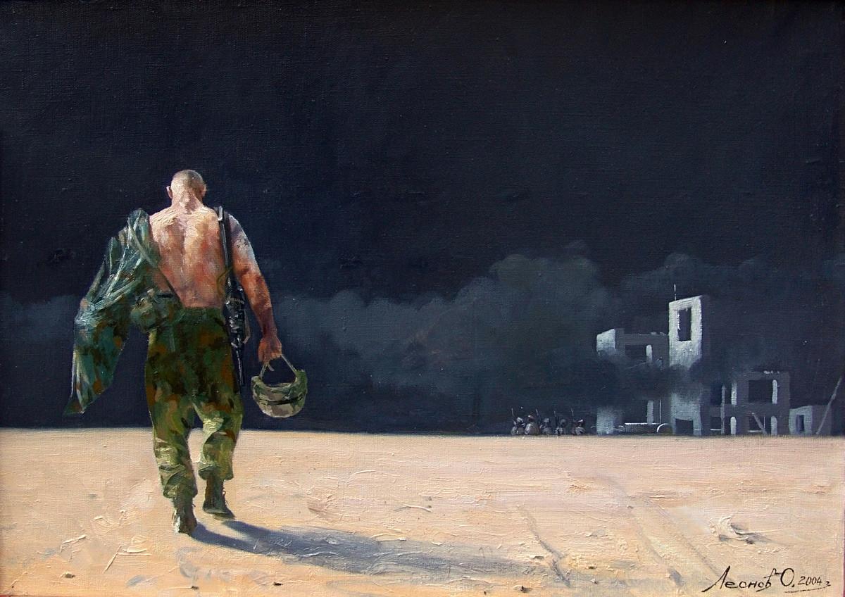 « Entre les combats » par Oleg Leonov, 2004