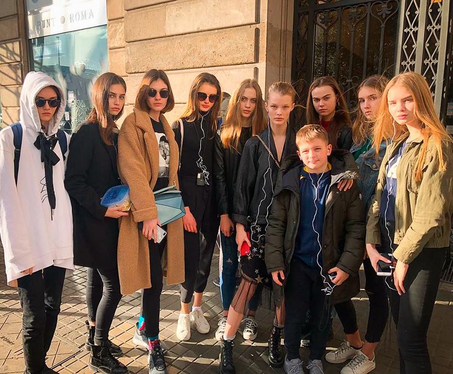 Maks z najlepšimi manekenkami barcelonske agencije Avant Models