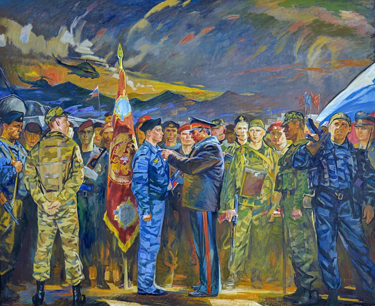 "Иљас Арасланов ""Орден у Ханкали (Грозни)"", 2007."