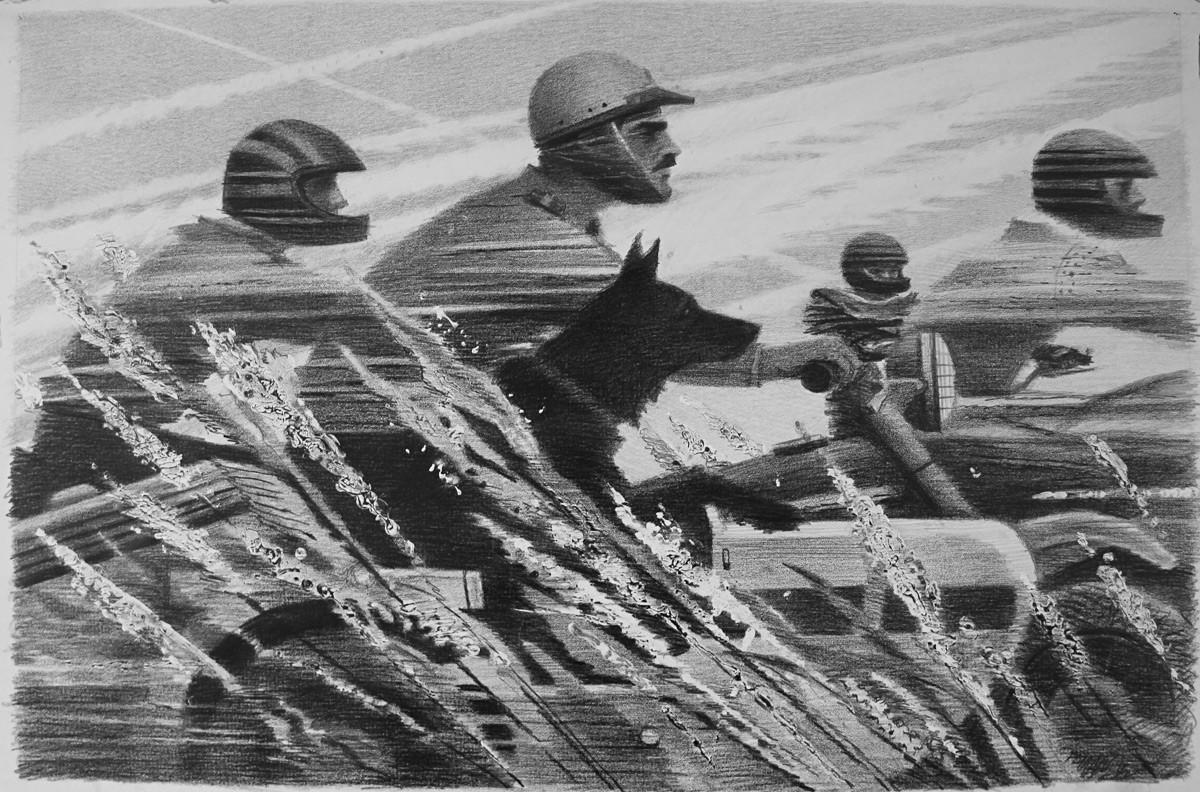 """Вјачеслав Желваков """"Такмичење"""", 1990."""