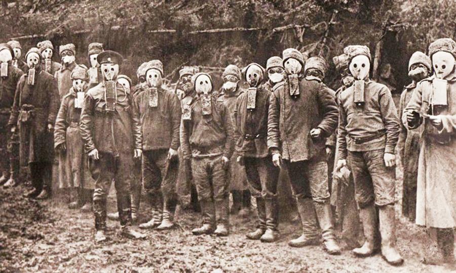 Soldats de la légion tchèque au sein de l'armée russe