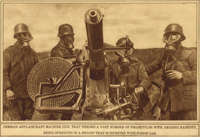 Германската войска използва химическо оръжие.