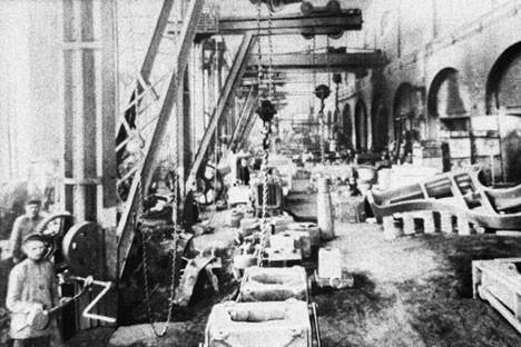 Работници в Обиховския завод, 1860-те години