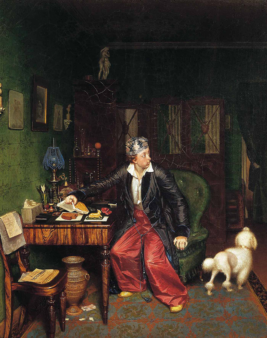 'Desayuno de un aristócrata', obra de Pável Fedótov.