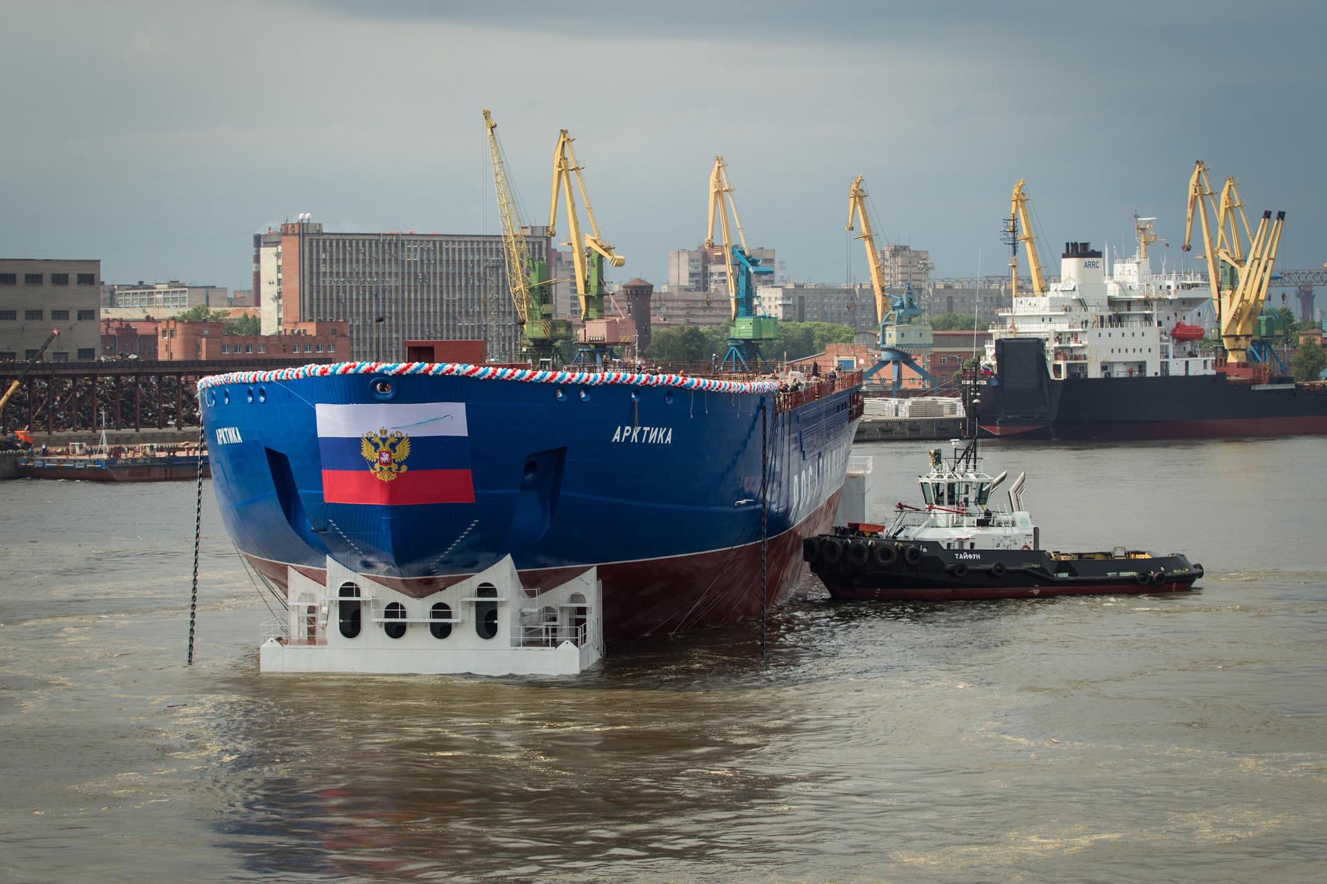 Splavitev ledolomilca Arktika, 16. 6. 2016, Baltiška ladjedelnica v St. Peterburgu