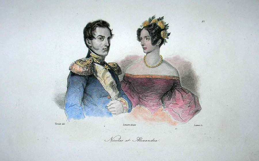 Nicholas I (1796 – 1855) and his wife Alexandra Feodorovna (1798 – 1860)