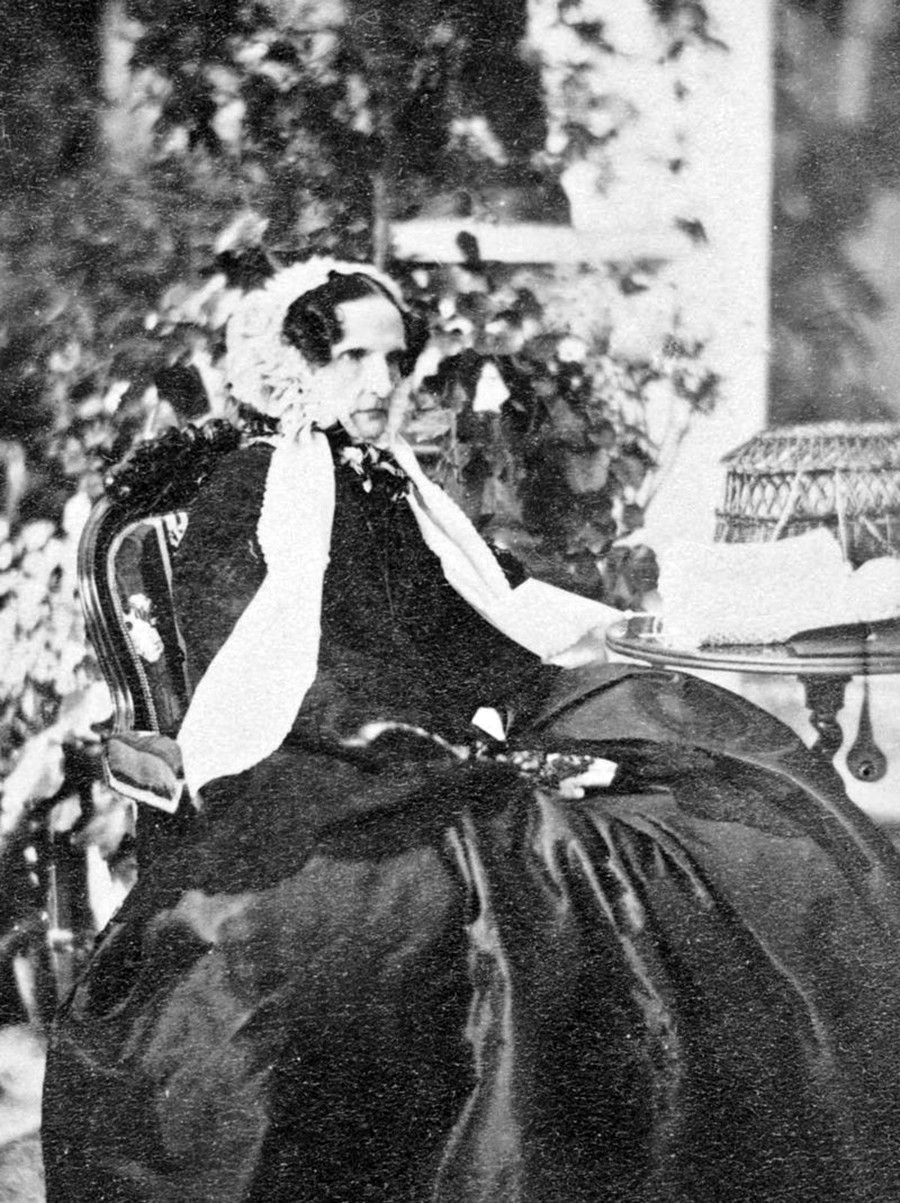 Dowager Empress Alexandra Feodorovna, wife of Nicholas I, in 1860