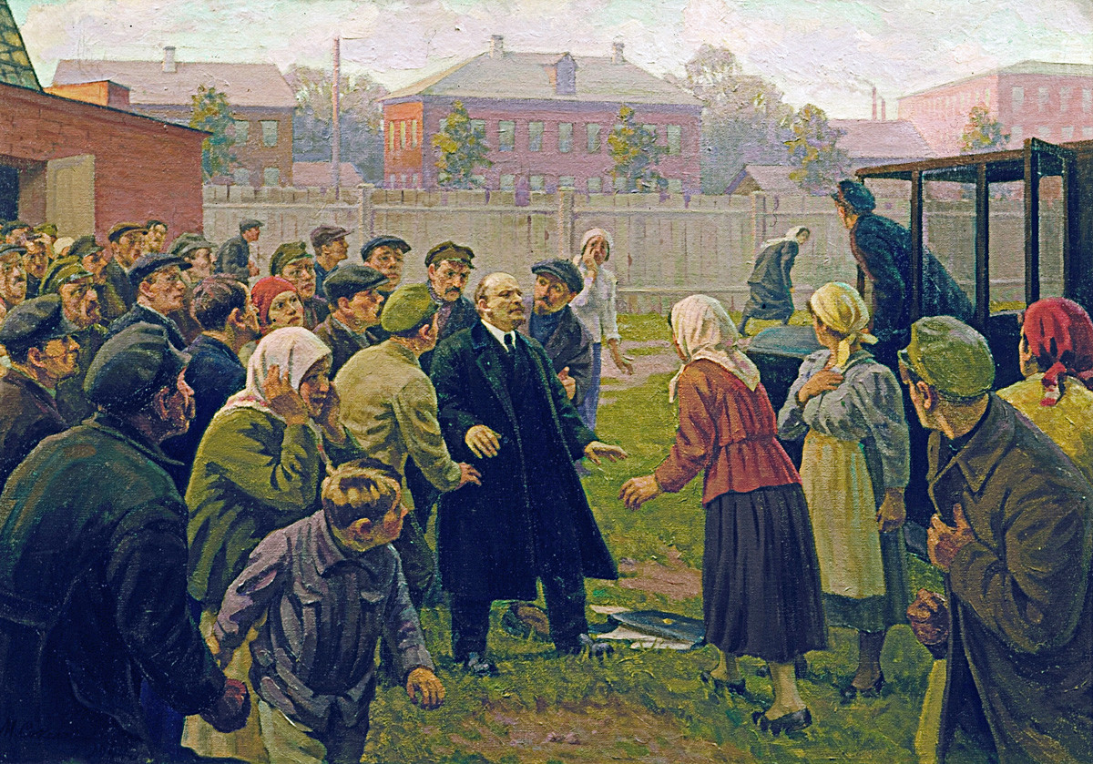 "M.G.Sokolov. ""Attentato alla vita di Vladimir Lenin, 30 agosto 1918"", Museo Centrale Vladimir Lenin"