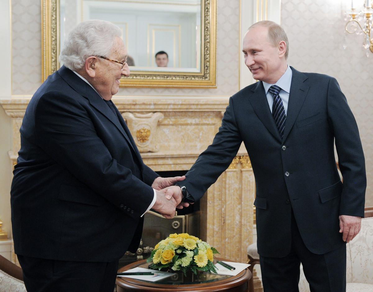 Kissinger y Putin en Moscú, 2012.