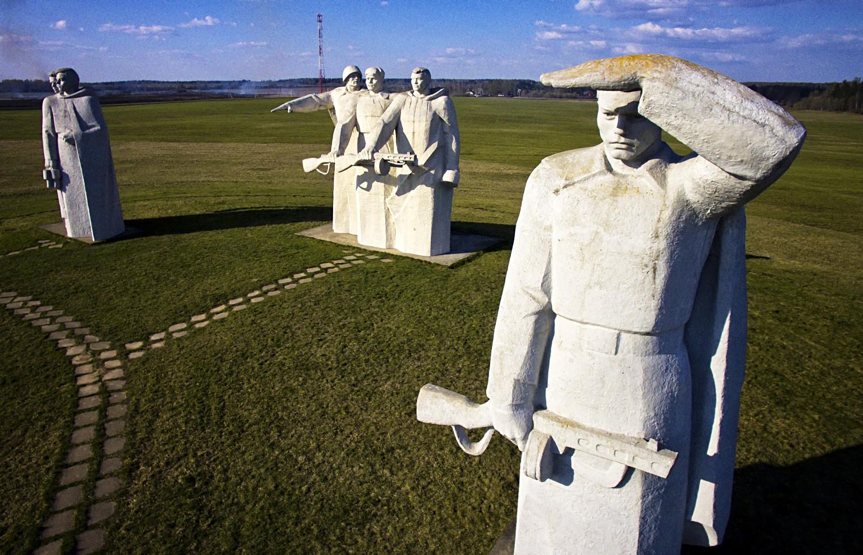 Monumen untuk 28 Pengawal Panfilov di Distrik Volokolamsky.