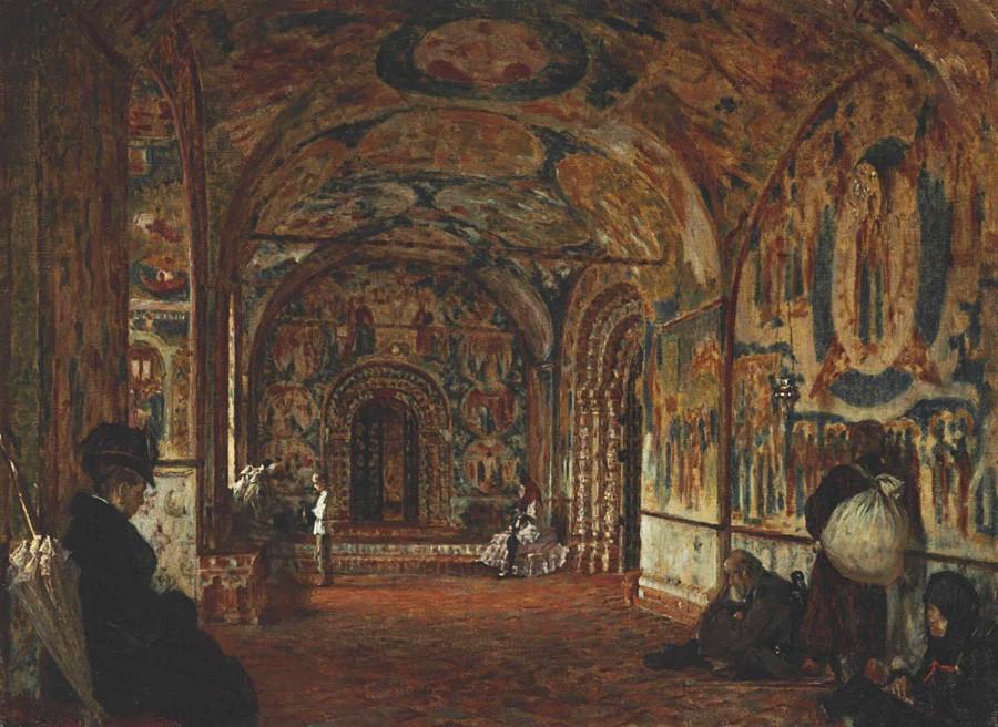 Vasily Vereshchagin. Galeri (papert) Gereja Yohanes Pembaptis di Tolchkovo. Dicat pada tahun 1888 di galeri utara gereja.