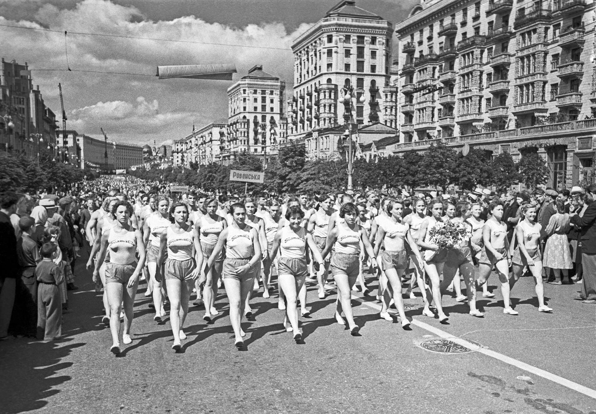 Eröffnung der Spartakiade 1956