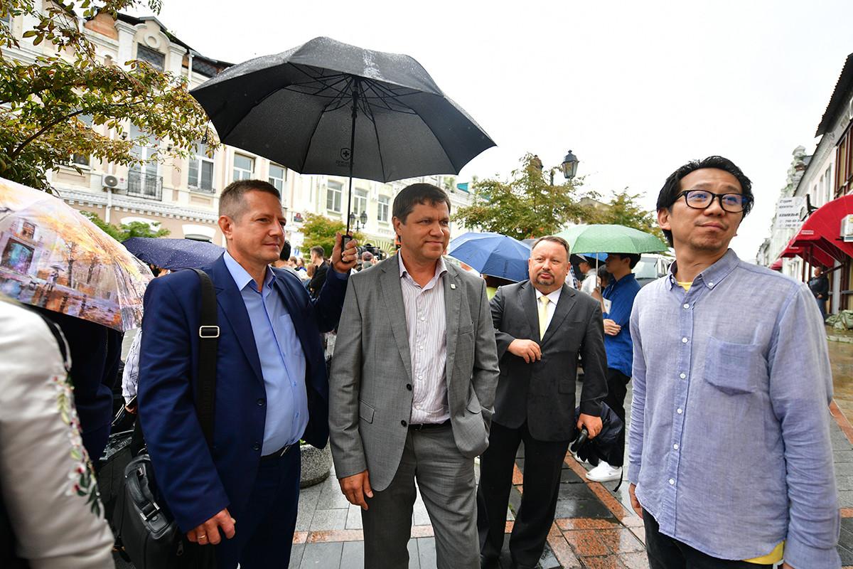 ウラジオストクのヴィタリー・ヴェルケエンコ市長。