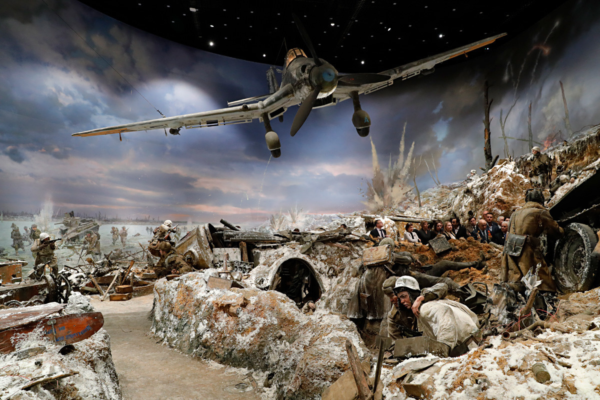 レニングラード包囲を打開したイスクラ(火花)作戦をテーマにしている3Dパノラマ博物館、キロフスク市。
