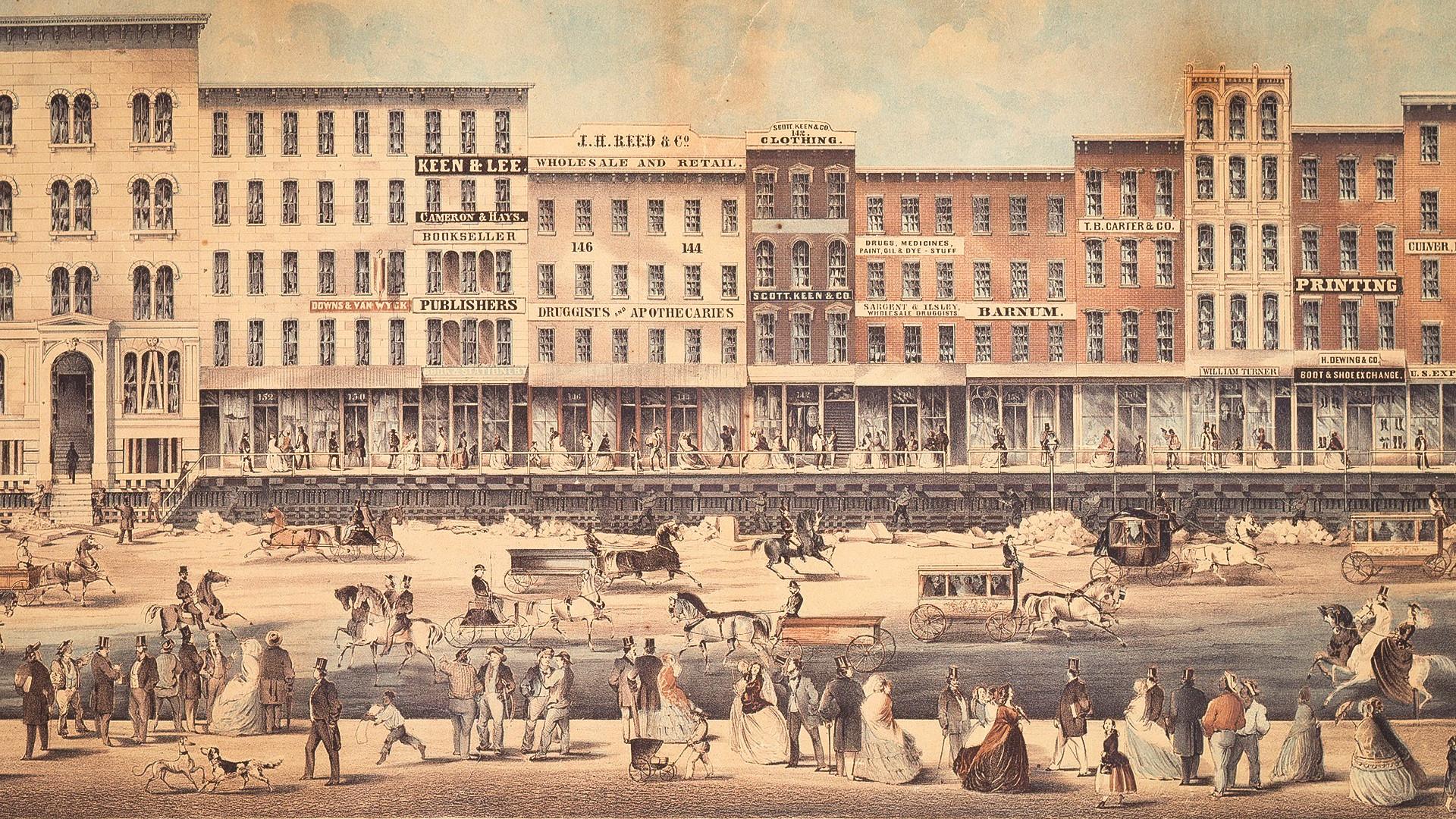 Chicago na década de 1860.