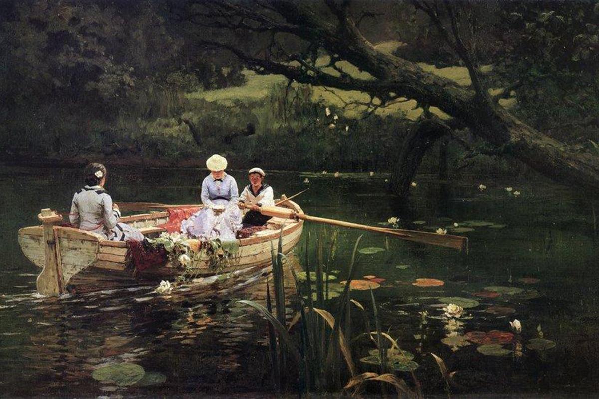 No barco em Abramtsevo, Vassíli Polenov, 1880