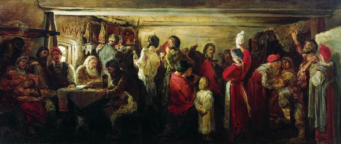 Casamento na província de Tambov, Andrêi Riabuchkin, 1880