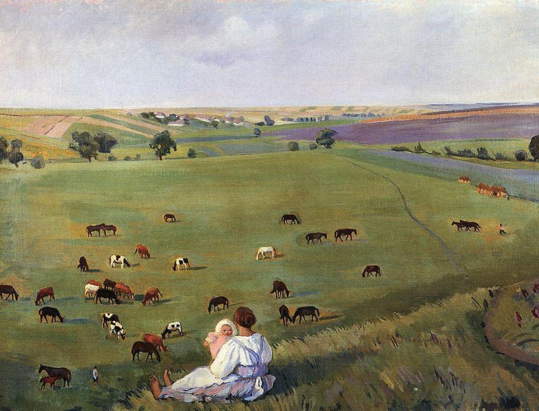 No prado, Zinaida Serebriakova, 1912
